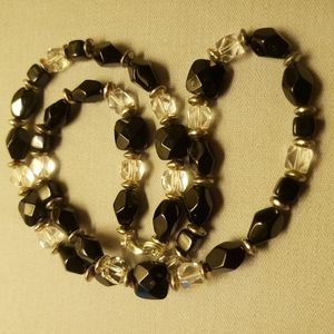 """Claire's """"Silver Black Crystal"""" 20"""" Necklace NYC ♥"""